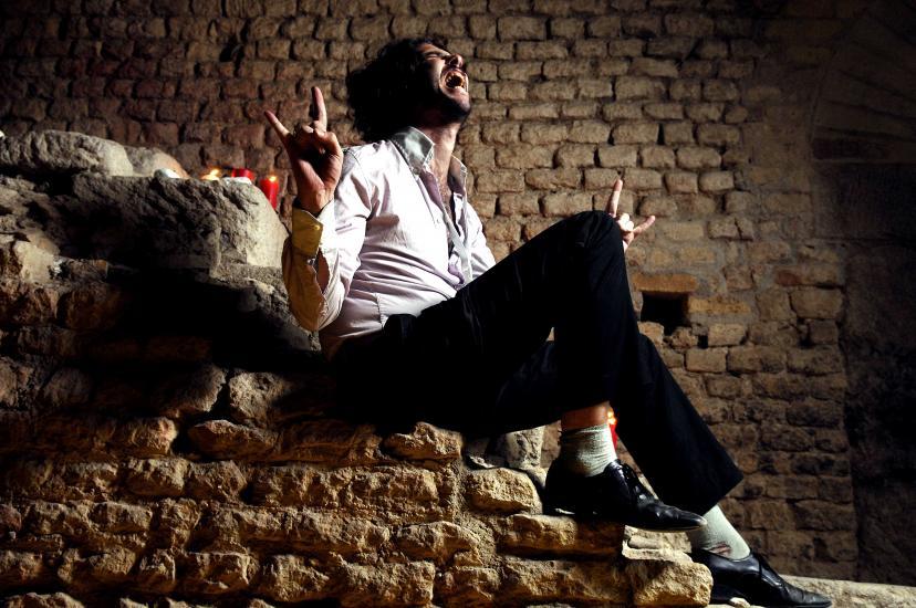 Le chanteur du groupe Devastations Conrad Standish. Festival Rock O'z arènes .