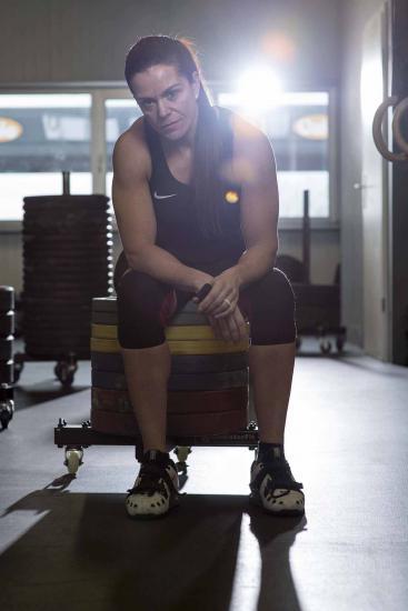 Renata Molliet , championne d'europe d'haltérophilie , spécialiste de crossfit.