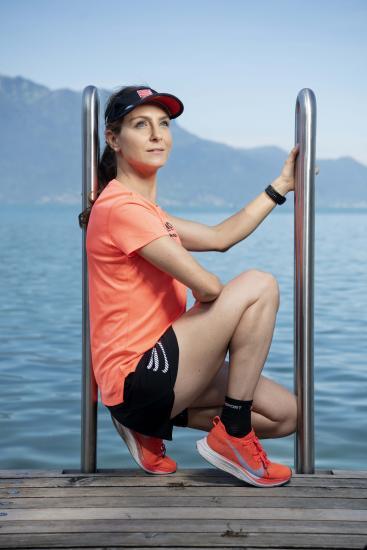 Claudia Bernasconi, championne de Suisse des 100 km.